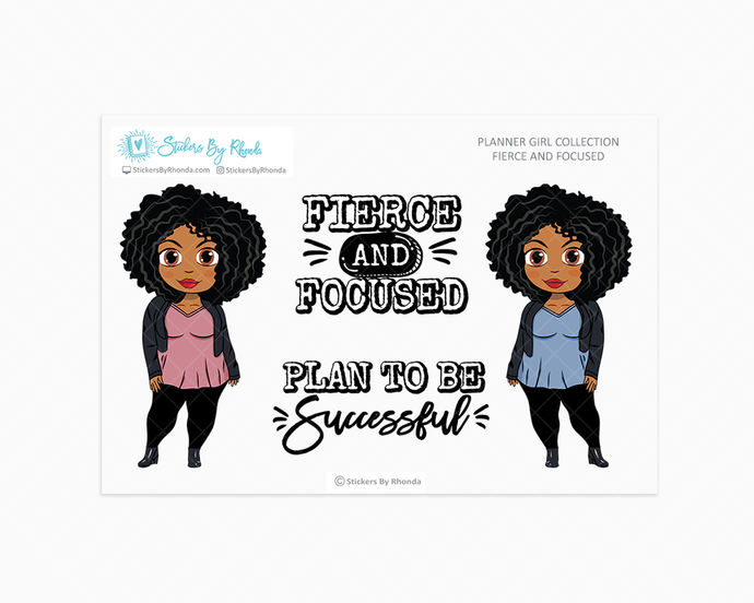 Ebony - Fierce And Focused - Limited Edition - Planner Girl Collection