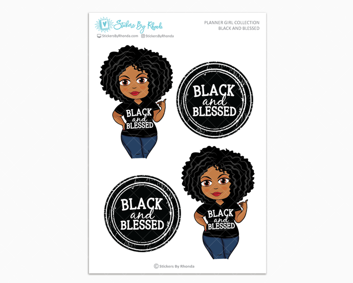 Ebony - Black and Blessed - Limited Edition - Planner Girl Collection