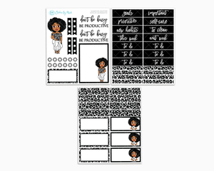 Ebony - Be Productive - Petite Kit - Planner Girl Collection