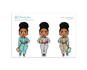 Ebony with Curly Puff - Movie Night - Limited Edition - Planner Girl Collection