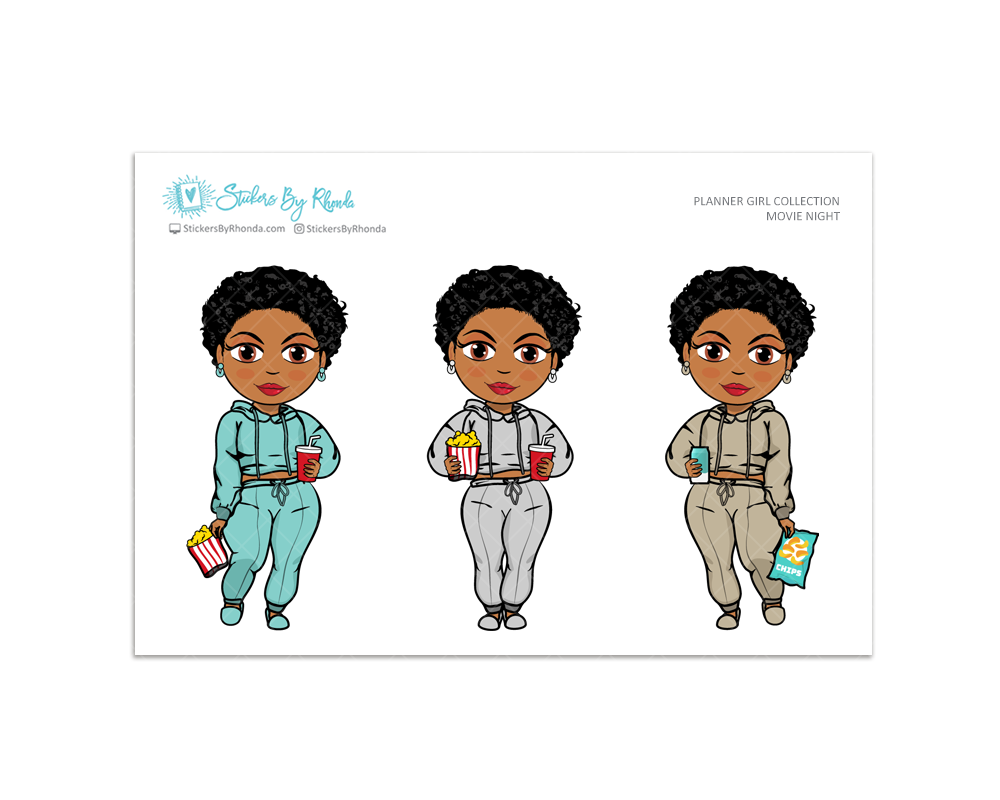 Ebony with Sassy Cut - Movie Night - Limited Edition - Planner Girl Collection