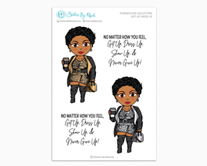 Ebony With Sassy Cut - Get Up, Dress Up -  Limited Edition - Planner Girl Collection