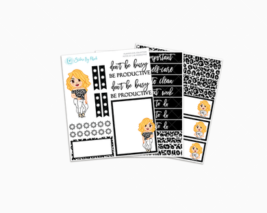 Emma With Brown Eyes - Be Productive - Petite Kit - Planner Girl Collection
