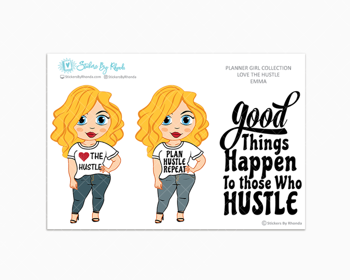 Emma - Love The Hustle - Limited Edition - Planner Girl Stickers