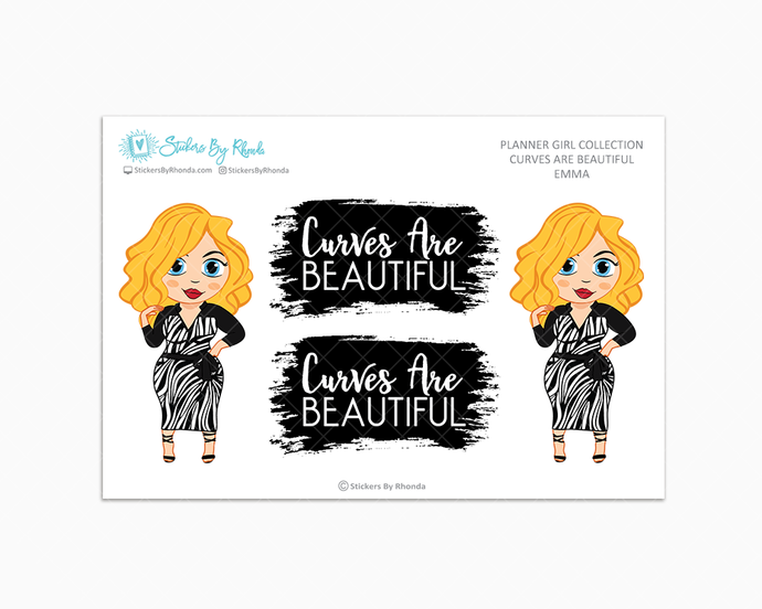 Emma -  Limited Edition - Curves Are Beautiful - Planner Girl Collection