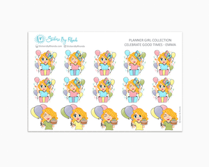 Celebrate Good Times - Emma - Birthday Planner Stickers - Celebration Planner Stickers - Party Planner stickers