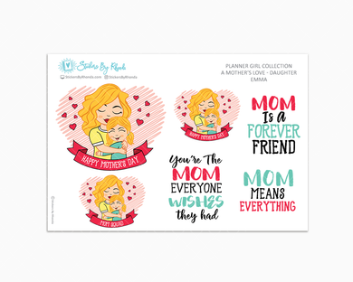 Emma - A Mother's Love - Mother's Day Stickers - Limited Edition - Planner Girl Collection - Planner Stickers