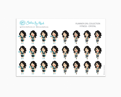Get Moving Fitness Planner Stickers - Crystal