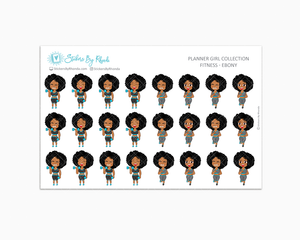 Get Moving Fitness Planner Stickers - Ebony