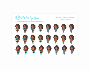 Get Moving Fitness Planner Stickers - Jackie