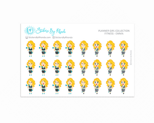 Get Moving Fitness Planner Stickers - Emma