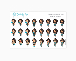 Get Moving Fitness Planner Stickers - Jennifer