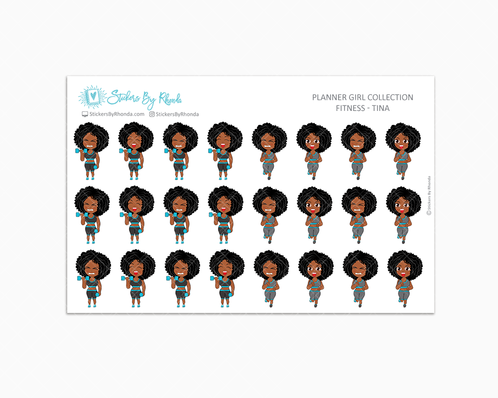 Get Moving Fitness Planner Stickers - Tina