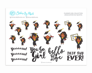 Graduation Planner Stickers w/ Quotes - Jackie