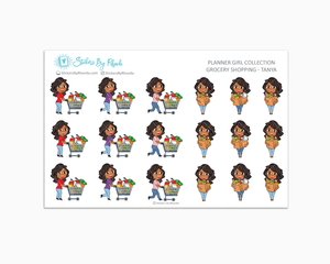 Grocery Shopping Planner Stickers - Tanya