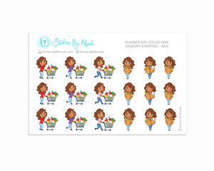 Grocery Shopping Planner Stickers - Mia