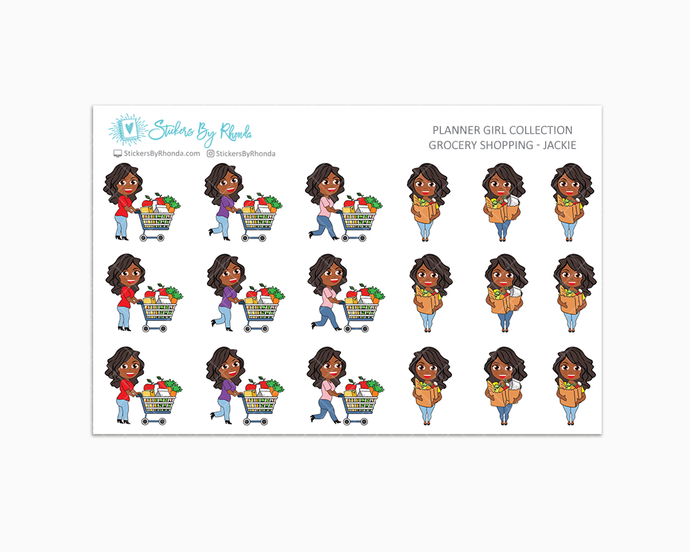 Grocery Shopping Planner Stickers - Jackie