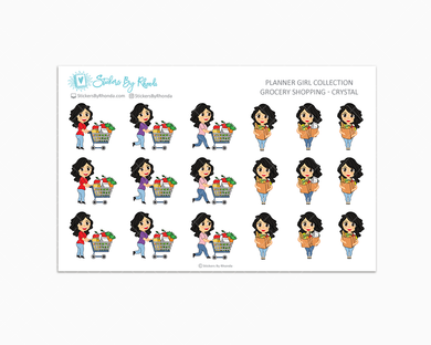 Grocery Shopping Planner Stickers - Crystal