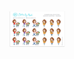 Grocery Shopping Planner Stickers - Amanda