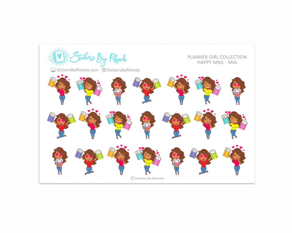 Happy Mail Planner Stickers - Mia