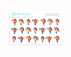 Happy Mail Planner Stickers - Amanda