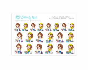 Housekeeping/Cleaning Planner Stickers - Amanda