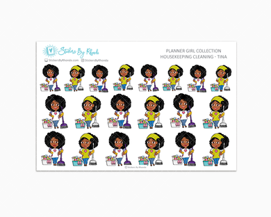 Housekeeping/Cleaning Planner Stickers - Tina