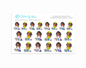 Housekeeping/Cleaning Planner Stickers - Jackie