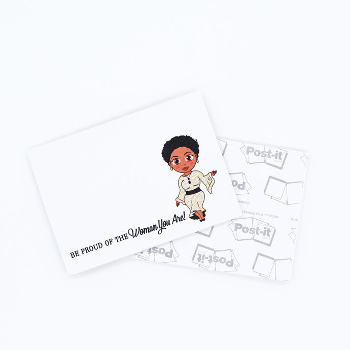 Ebony With Sassy Cut Post-it® Notes - Be Proud Of The Woman You Are - Sticky Notes
