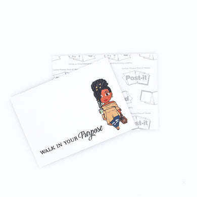 Jackie With Locs Post-it® Notes - Walk In Your Purpose - Sticky Notes
