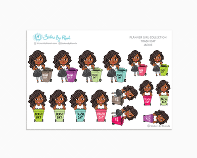 Jackie  - Trash Day  - Take Out The Trash - Planner Stickers