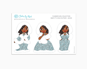 Jackie - Limited Edition - Baby It's Cold Outside - Planner Girl Stickers