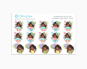 Celebrate Good Times - Jackie - Birthday Planner Stickers