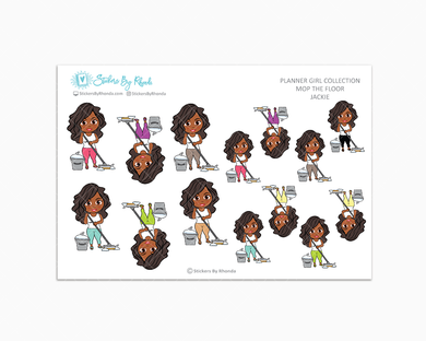 Jackie - Mop The Floor - Cleaning Stickers - Planner Stickers
