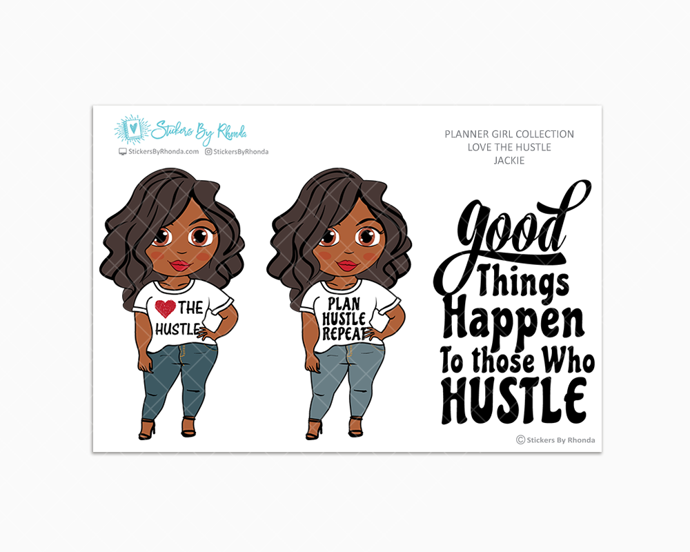 Jackie - Love The Hustle - Limited Edition - Planner Girl Stickers