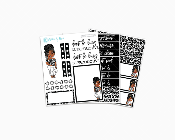 Jackie With Locs - Be Productive - Petite Kit - Planner Girl Collection