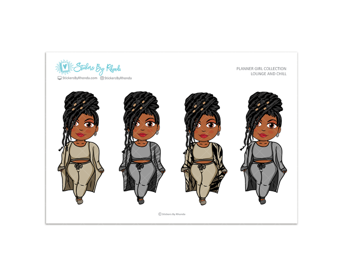Jackie with Locs - Lounge and Chill - Limited Edition - Planner Girl Collection