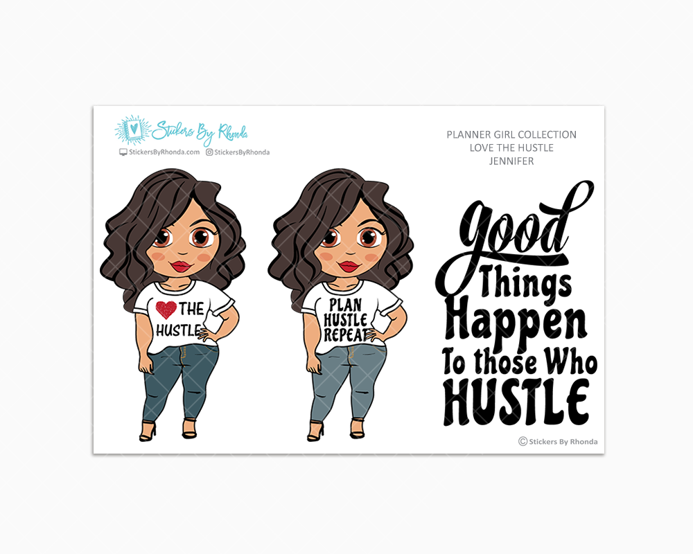 Jennifer - Love The Hustle - Limited Edition - Planner Girl Stickers