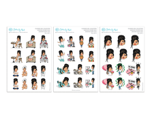 Jennifer With Locs - Sampler Sticker Pack - Planner Girl Collection
