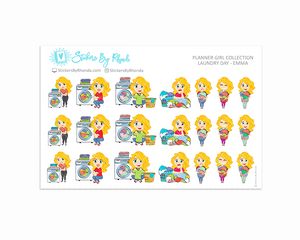 Laundry Day Planner Stickers - Emma