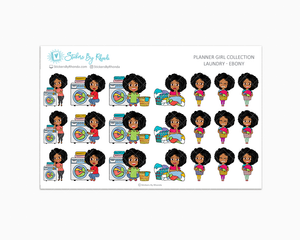 Laundry Day Planner Stickers - Ebony