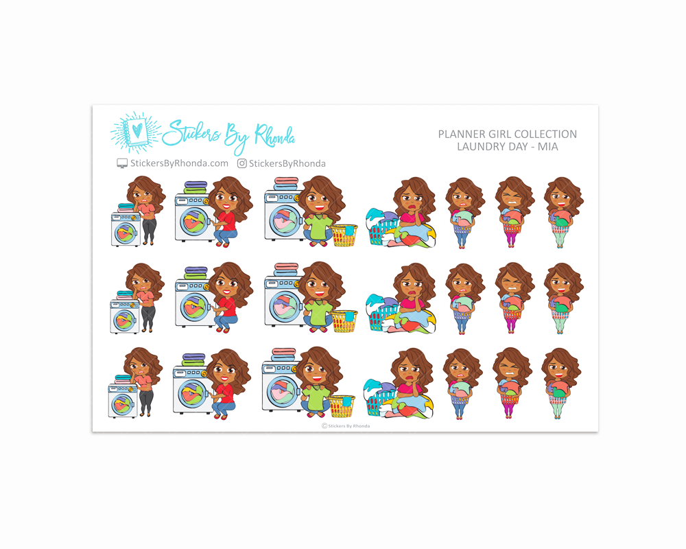 Laundry Day Planner Stickers - Mia