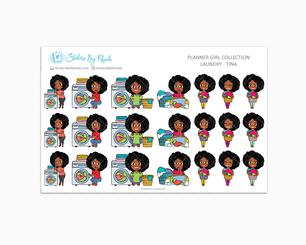 Laundry Day Planner Stickers - Tina