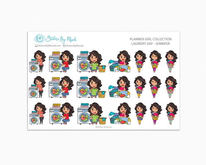 Laundry Day Planner Stickers - Jennifer