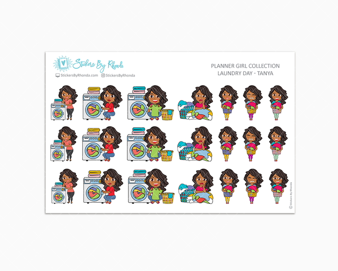 Laundry Day Planner Stickers - Tanya