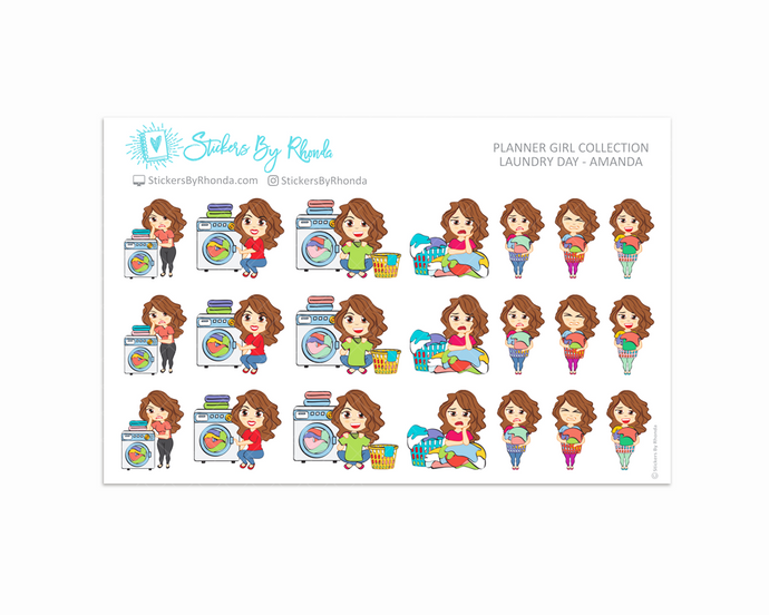 Laundry Day Planner Stickers - Amanda