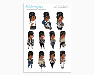 Jackie With Locs - Neutral - Limited Edition Planner Girl Sampler II