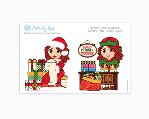Lizzy - Santa's Little Helper - Planner Girl Collection - Limited Edition - Christmas Stickers