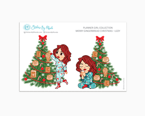 Lizzy - Merry Gingerbread Christmas - Planner Girl Collection - Limited Edition - Christmas Stickers