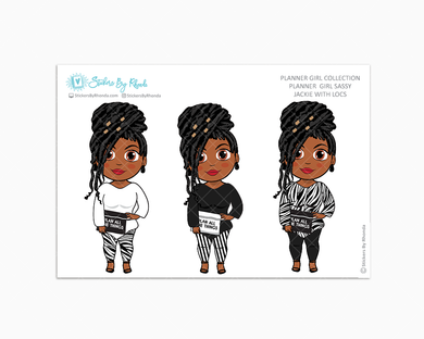 Jackie With Locs -  Limited Edition - Planner Girl Sassy - Planner Girl Collection